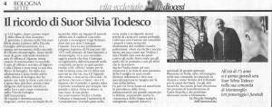 Il ricordo di Silvia pubblicato sul periodico diocesano.